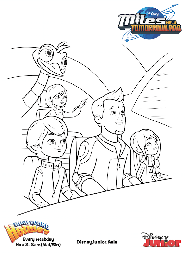 Miles From Tomorrowland Callisto Family Colouring Page