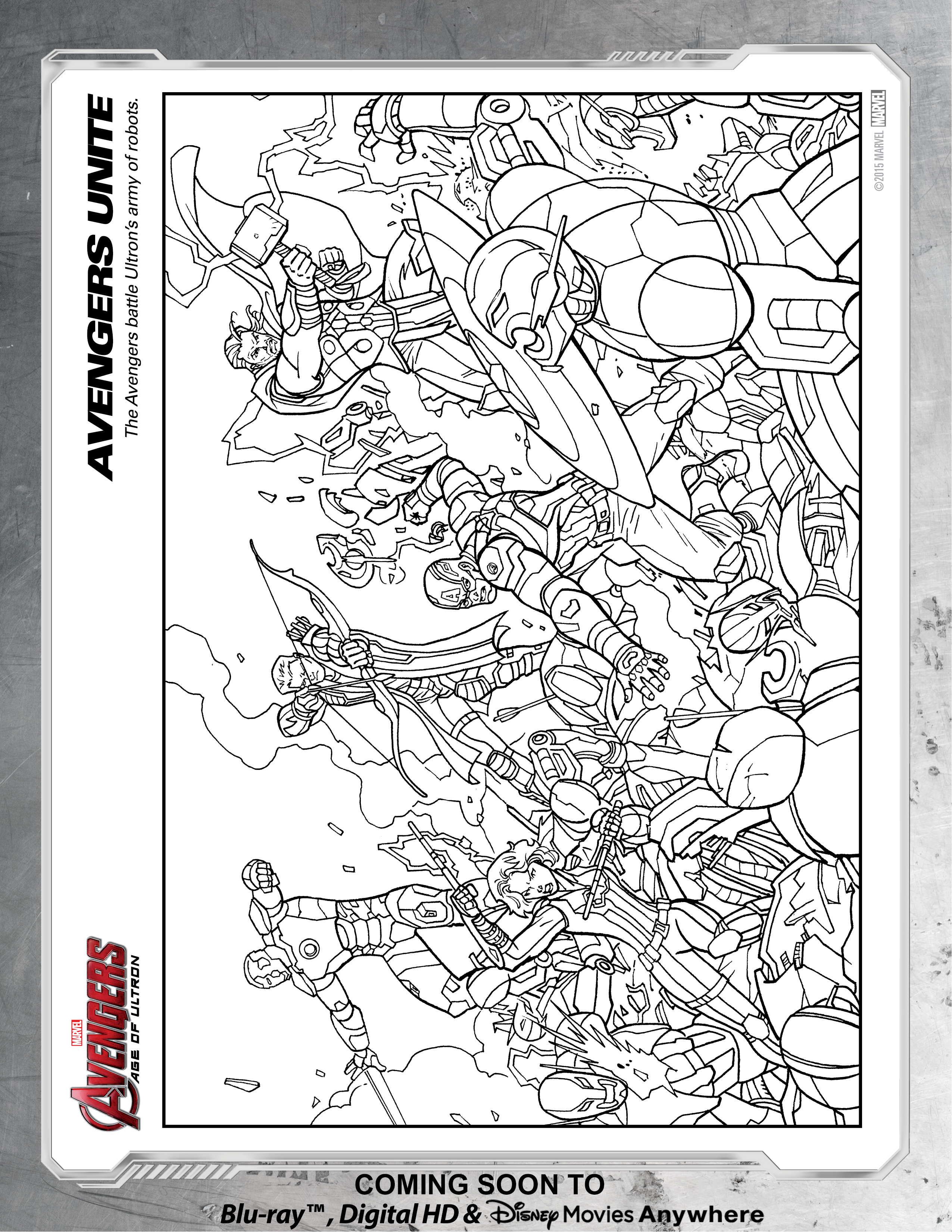 Avengers Unite Coloring Page