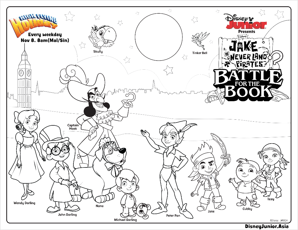 Jake And The Never Land Pirates Battle For Book Colouring Page