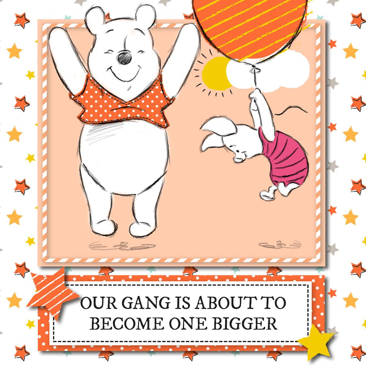 Pregnancy Announcement Disney Baby – Winnie the Pooh Birth Announcement
