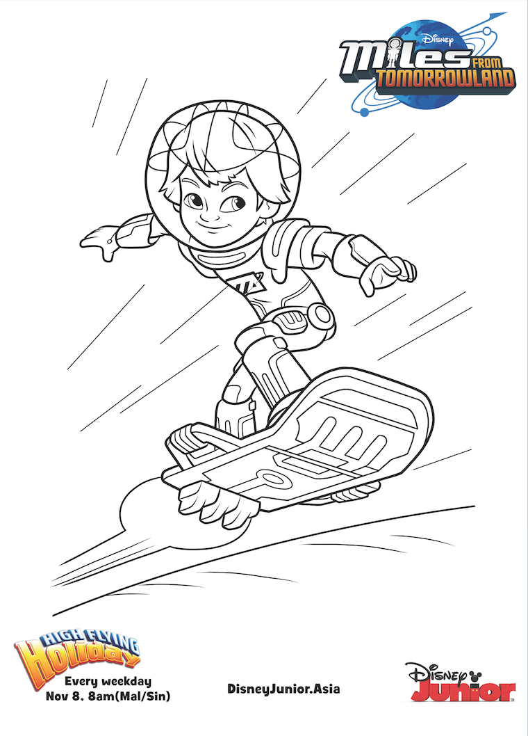 Disney Junior Coloring Pages Miles From Tomorrowland Coloring Pages