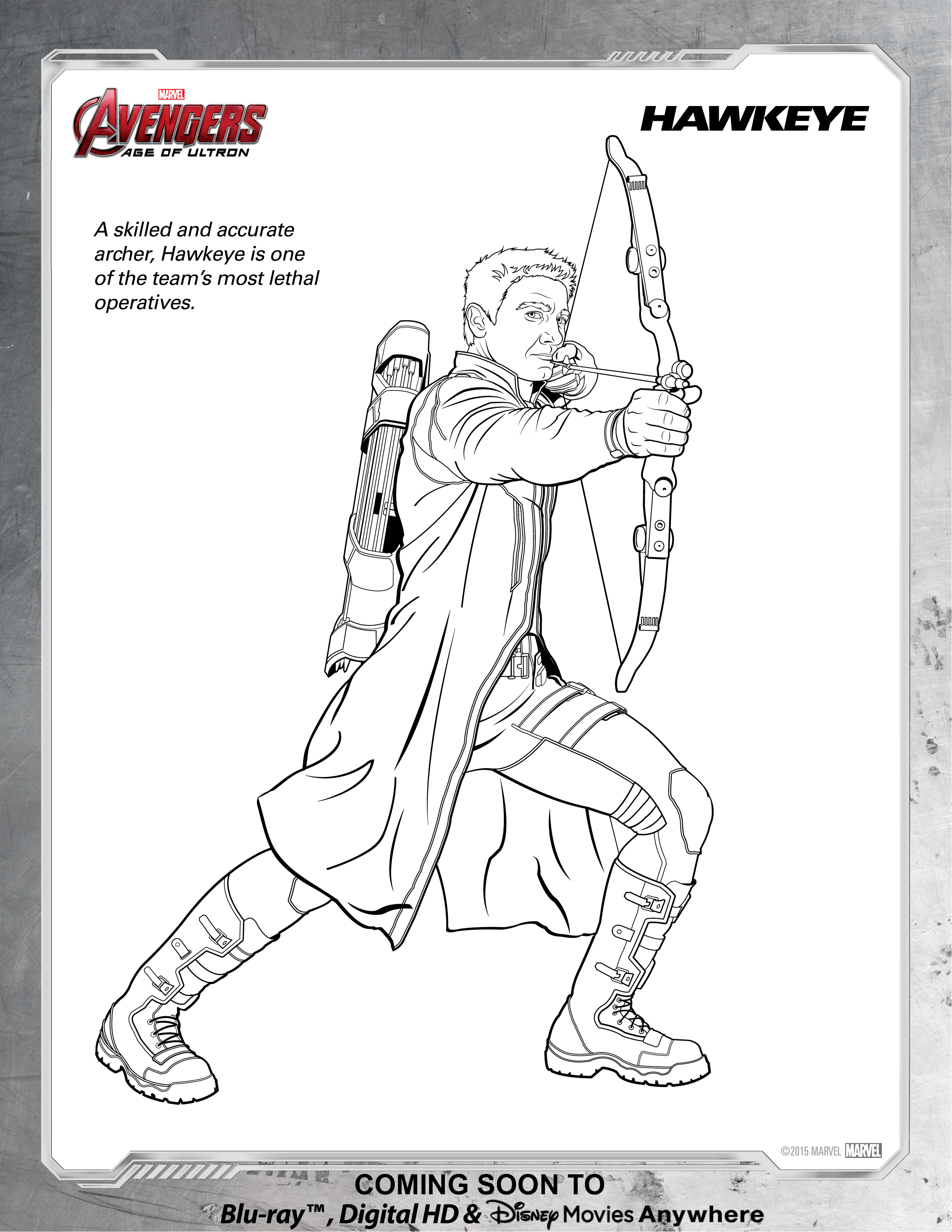 Hawkeye Avengers Coloring Pages | Coloring Page