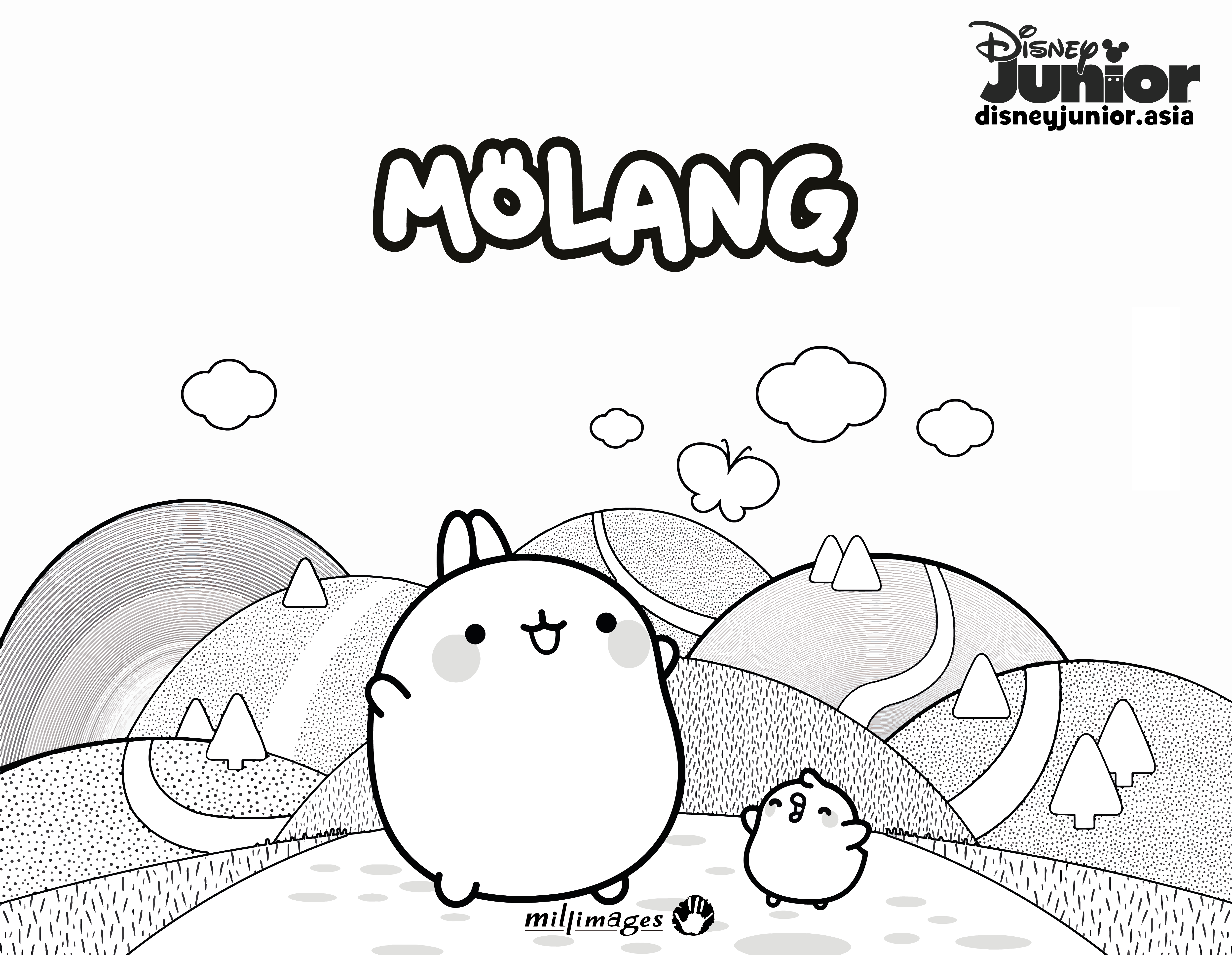 Molang Colouring Page 1   Disney Junior   Philippines
