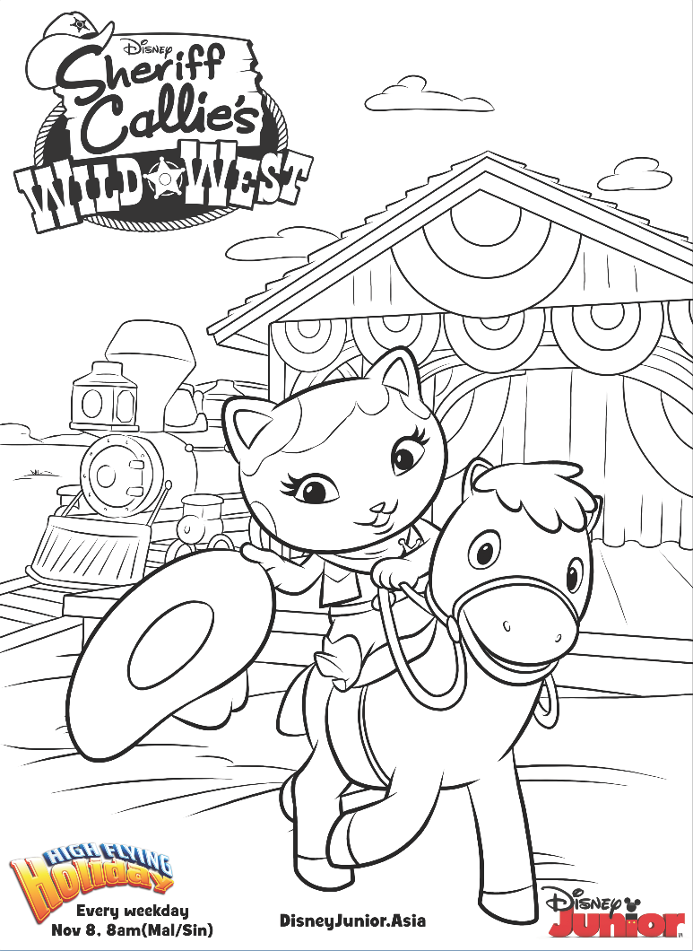 Free coloring pages disney junior - Sheriff Callie Colouring Page Disney Junior Philippines